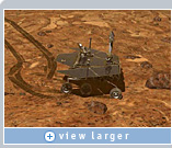 Rover movements are carefully choreographed. Scientists test each possible route and choose objects for study by 'flying' through the virtual reconstruction of Martian terrain.  This image, courtesy NASA/JPL/Cornell/Maas Digital LLC, was created using NVIDIA graphics.