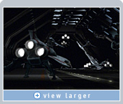 NVIDIA graphics allowed Zoic to help the director plan Battlestar Galactica shots, interactively position background and foreground objects, and adjust lighting.