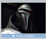 Zoic used NVIDIA Quadro FX graphics to blend CG characters, like this enemy Cylon, into scenes with live actors in Battlestar Galactica.